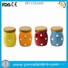 Colorful Polka DOT Cermic Storage Mini Jar